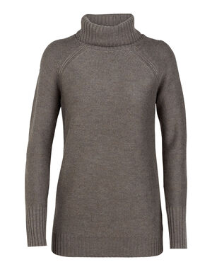 Womens Waypoint Roll Neck Sweater Made with soft, breathable 100% merino wool and an oversized, super-cozy rolled neck, the Waypoint Roll Neck Sweater is a perfect casual heavyweight top for winter travel or frigid days around town.