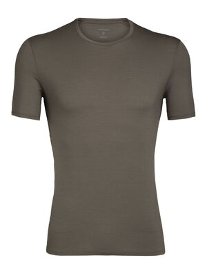 Mens Merino Anatomica Short Sleeve Crewe T-Shirt A soft, stretchy base layer T-shirt for active layering and everyday comfort, the slim-fit Anatomica Short Sleeve Crewe features our ultralight 150gm merino wool corespun fabric.
