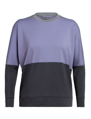 Womens Cool-Lite™ Momentum Long Sleeve Crewe A midweight women's merino wool sweatshirt with our cool-lite™ fabric that uses TENCEL™, the Momentum Long Sleeve Crewe is perfect for cool-weather training.