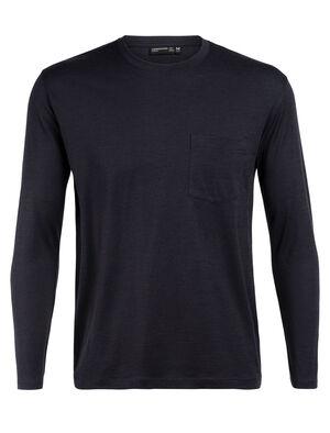 男款 Tech Lite长袖圆领上衣 带口袋 Tech Lite长袖圆领上衣(带口袋)选用柔软耐穿的美丽诺羊毛平纹针织包芯面料,打造休闲剪裁的日常理想T恤。