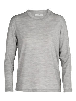 Womens Merino 150 Long Sleeve Crewe T-Shirt A classic and indispensable T-shirt with a long-sleeve silhouette and the natural benefits of merino wool, the 150 Long Sleeve Crewe is an everyday wardrobe essential.
