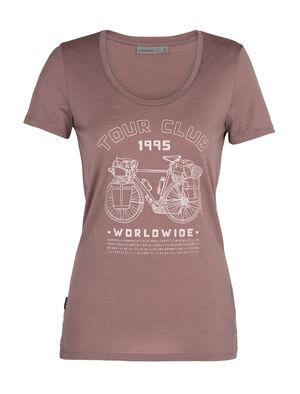 Merino Tech Lite kurzärmliges T-Shirt mit U-Ausschnitt Tour Club 1995
