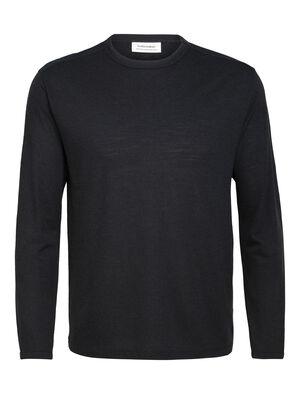 Merino Pique Long Sleeve Crewe T-Shirt