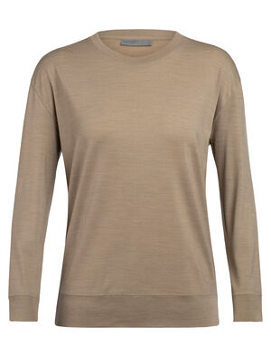 Womens Nature Dye Drayden Long Sleeve Crewe A natural moisture-wicking women's T-shirt made with an odor-resistant merino wool blend, the nature dye Drayden Long Sleeve Crewe balances performance with style.