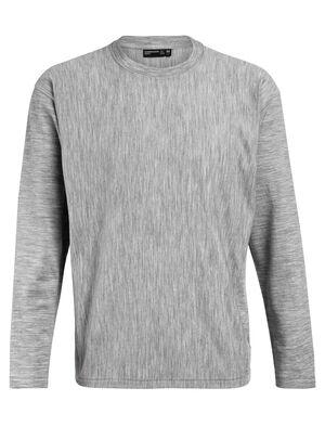 Merino Micro-Terry Laidback Long Sleeve Crewe T-Shirt