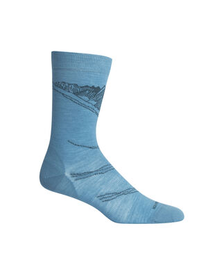 Unisex Lifestyle Fine Gauge Crew Peak in Reach Lightweight casual socks perfect for everyday use, the Lifestyle Fine Gauge Crew Peak in Reach combines premium merino wool comfort with a durable construction.
