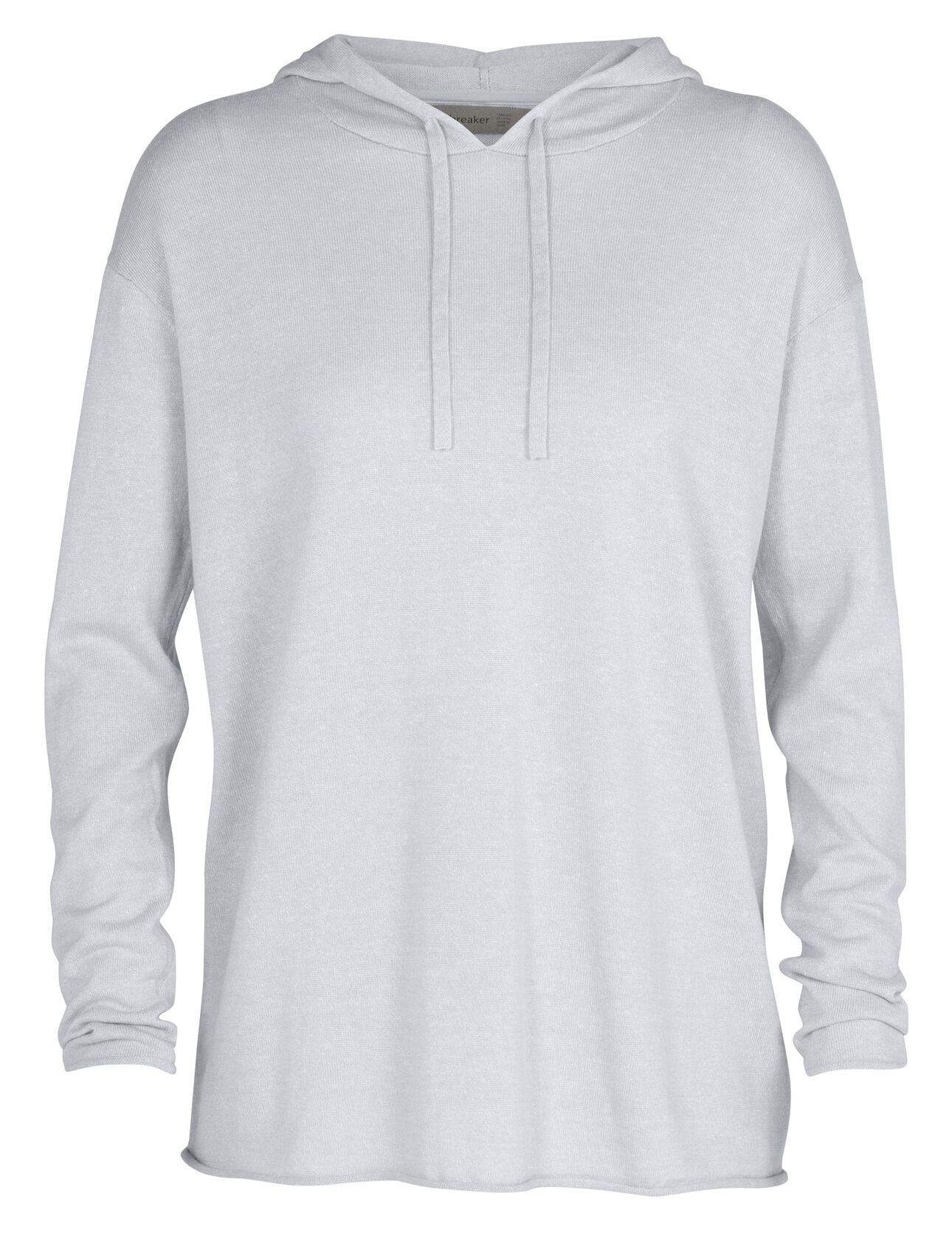 Merino Flaxen Long Sleeve Hooded Pullover Sweater