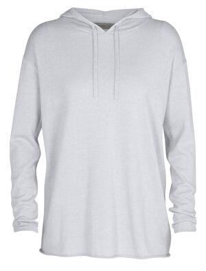 Sweater à capuche manches longues mérinos Flaxen