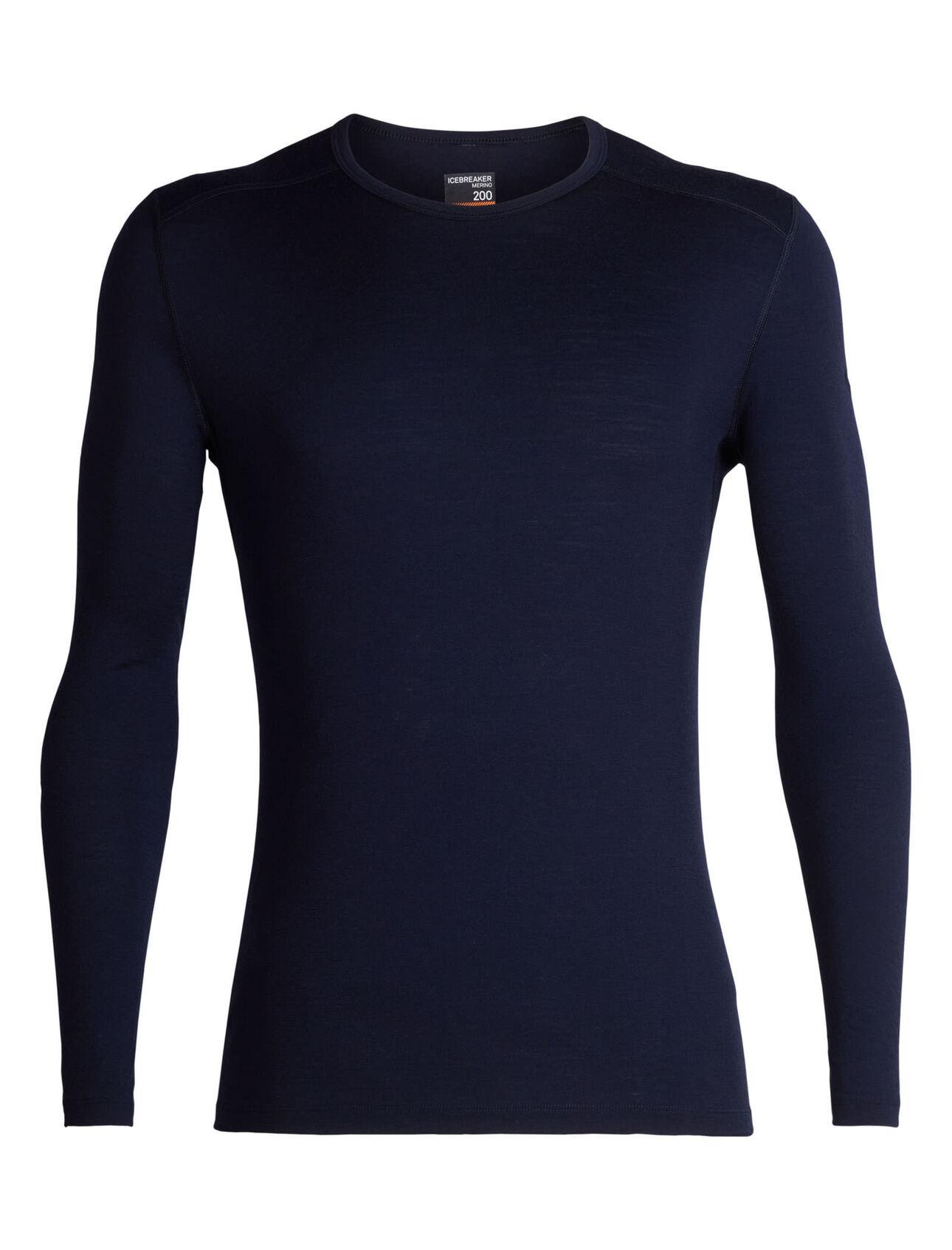 men's merino 200 oasis long sleeve crewe thermal top