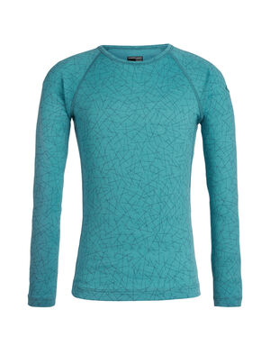 Kids Merino 200 Oasis Long Sleeve Thermal Crewe Top Sky Paths Perfect for cold-weather warmth or everyday layering, the 200 Oasis Long Sleeve Crewe Sky Paths is made from naturally soft and breathable 100% merino wool.