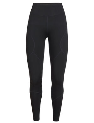 Womens Tranquil Tights The Tranquil Tights are sporty and slim-fit, designed for movement and support in our soft merino terry fabric with LYCRA® for dynamic stretch and mobility.