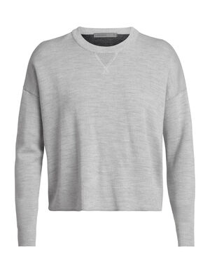 Womens Merino Carrigan Sweater Sweatshirt  A classic crew sweater for everyday warmth and style, the Carrigan Sweater Sweatshirt features an easy-wearing, relaxed fit and a soft, breathable merino wool blend.