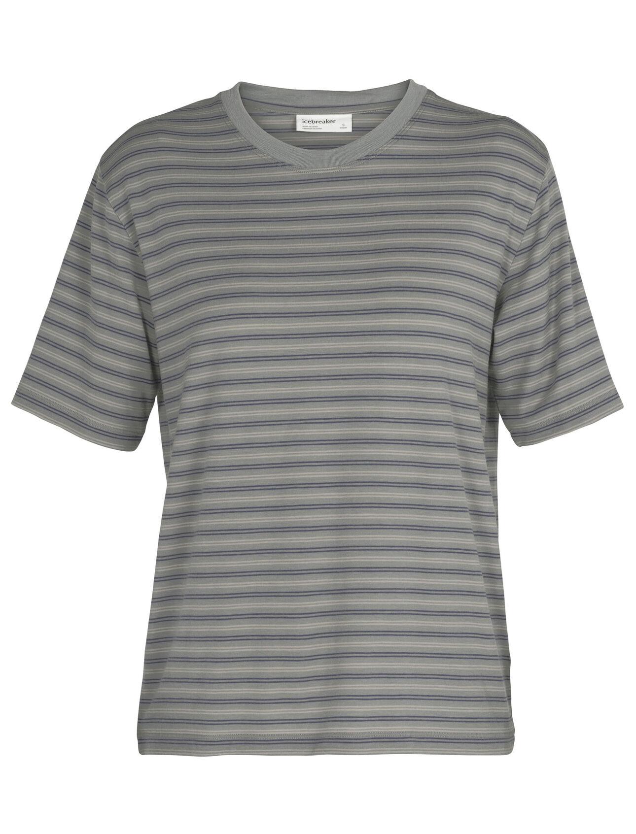 Merino 150 Short Sleeve Crewe Stripe T-Shirt