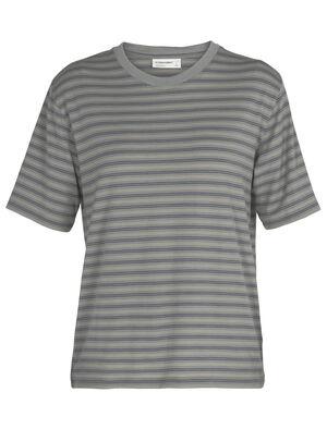 Merino 150 kurzärmliges T-Shirt mit Rundhalsausschnitt Stripe