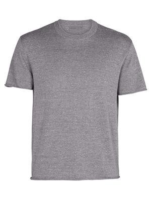 Ras du cou à manches courtes Flaxen en mérinos t-shirt