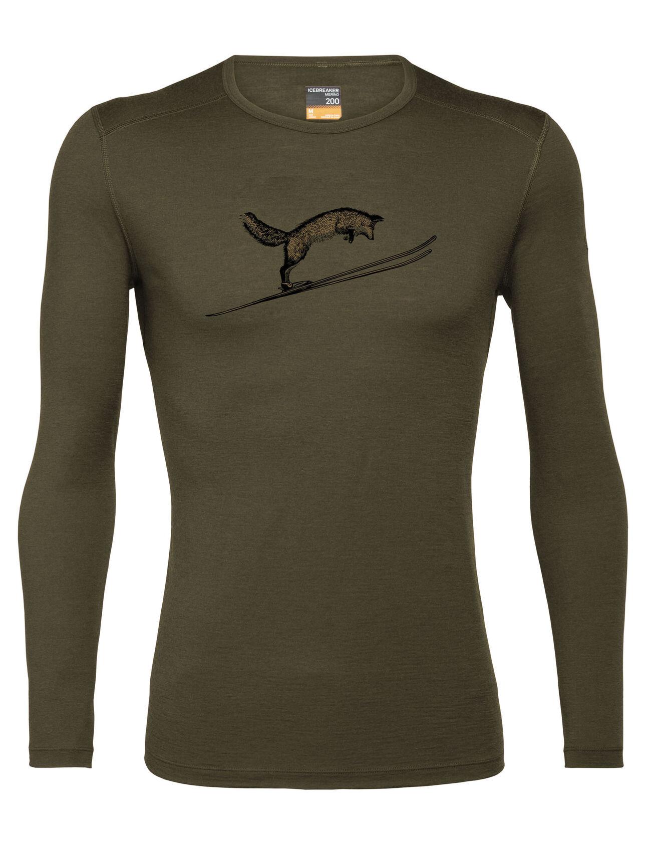 Merino 200 Oasis Long Sleeve Crewe Thermal Top Fox Jump
