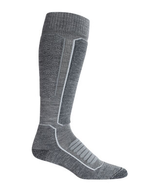 Mens Merino Ski+ Medium Over the Calf Socks Stretchy and supportive merino socks for technical performance on snow, our fully cushioned Ski+ Medium Over the Calf socks are durable, breathable, and comfortable, with anatomical support in key areas.