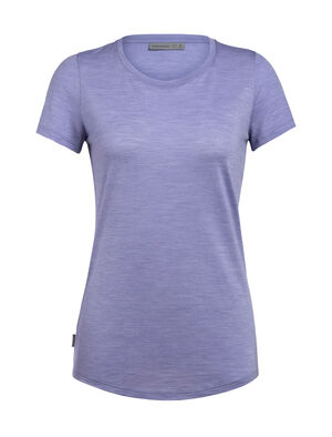 Womens Cool-Lite™ Sphere Short Sleeve Low Crewe A soft and comfortable women's short-sleeve T-shirt with our cool-lite™ merino wool jersey fabric, the Sphere Short Sleeve Low Crewe features a mid-scoop neckline.