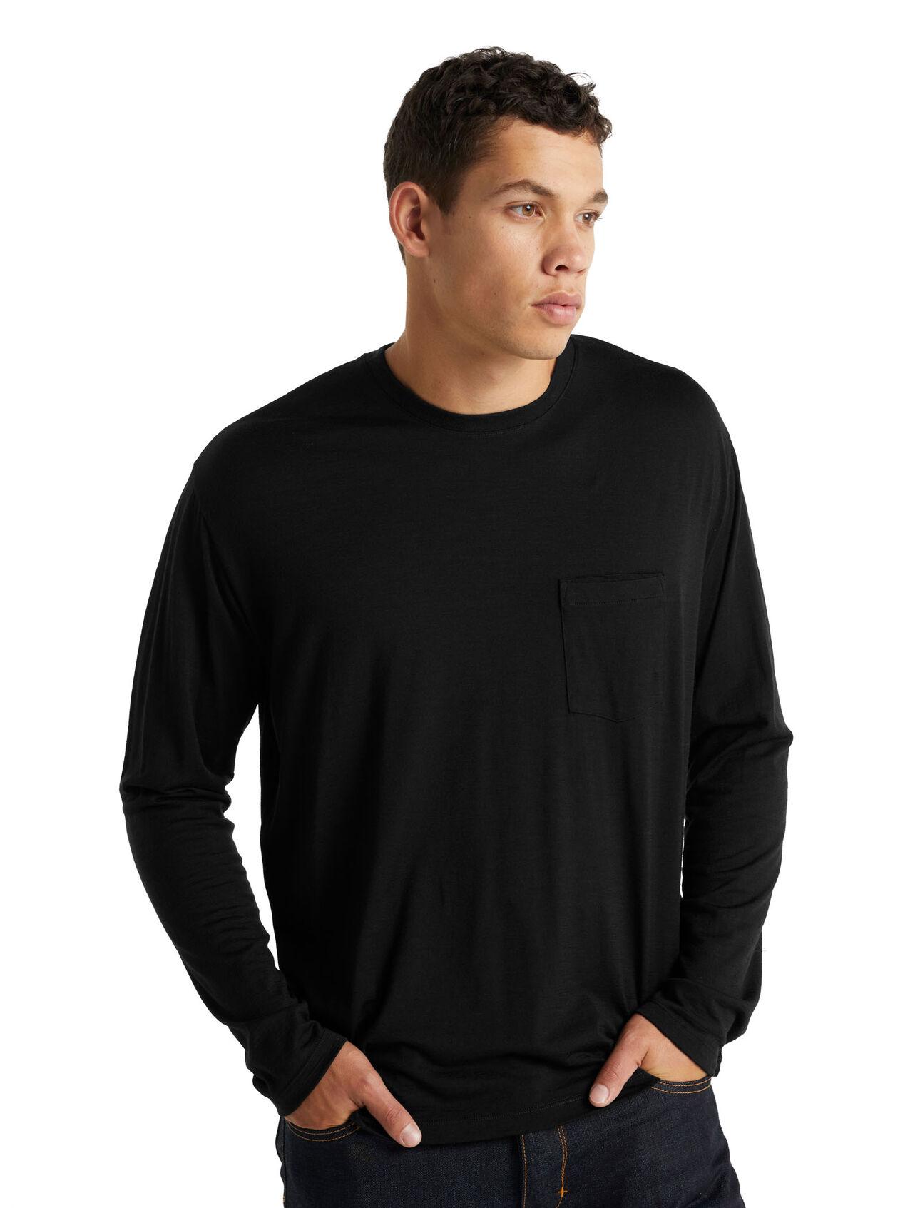 Merino Granary Long Sleeve Pocket T-Shirt