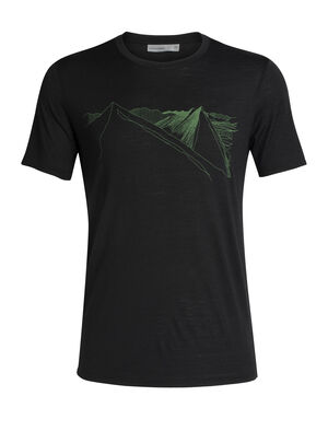 Mens Tech Lite  Short Sleeve Crewe Peak in Reach Our most versatile men's merino wool T-shirt, the Tech Lite Short Sleeve Crewe Peak In Reach is naturally soft, breathable and odor-resistant for comfort on your adventures.