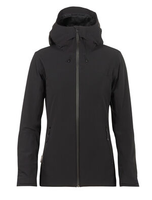 Womens MerinoLOFT™ Stratus Transcend Hooded Jacket A warm and waterproof womens daily jacket built with technical materials and merino wool, the Stratus Transcend Hooded Jacket offers serious protection from the elements on the outside, and next-to-skin merino comfort on the inside.