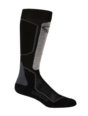 Womens Ski+ Light Over The Calf Lightweight women's merino wool ski socks for skiing the resort or the backcountry, the Ski+ Light Over the Calf socks are made with a durable, breathable merino wool blend.