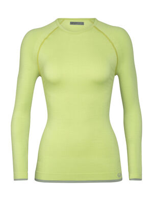 Womens Merino 200 Zone Seamless Long Sleeve Crewe Thermal Top Our highly technical midweight base layer top with an innovative tubular merino knit and zone ventilation, the 200 Zone Seamless Long Sleeve Crewe is incredibly breathable and stretchy for high-output pursuits.