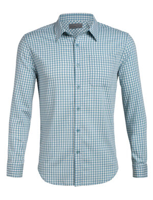 Mens Cool-Lite™ Merino Compass Flannel Long Sleeve Shirt A lightweight woven men's merino wool flannel shirt for travel or daily life, the Compass Flannel Long Sleeve Shirt combines classic style with modern natural fabrics.
