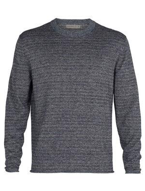 美丽诺羊毛Flaxen长袖圆领针织衫