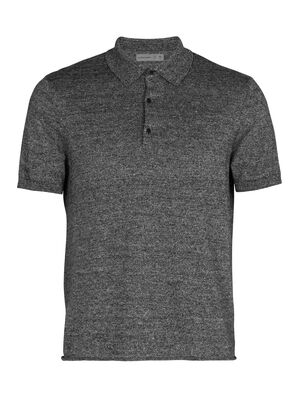 Mens Merino Flaxen Short Sleeve Polo Shirt A relaxed fit mens lightweight Polo, the Flaxen Short Sleeve Polo Shirt features a merino and linen fully fashioned yarn offering lightweight comfort and style.