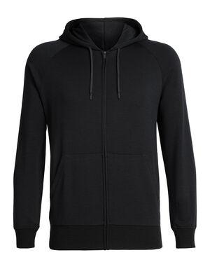 Veste zippée à capuche manches longues mérinos RealFleece® Helliers