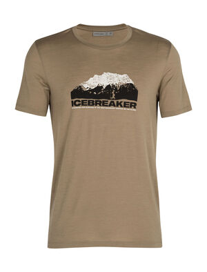 Mens Merino Tech Lite Short Sleeve Crewe T-Shirt Icebreaker Mountain Our most versatile merino tech tee, the Tech Lite Short Sleeve Low Crewe icebreaker Mountain is stretchy, highly breathable, and odor-resistant, with original graphic artwork by Nathan Dunn evoking lofty mountain peaks.