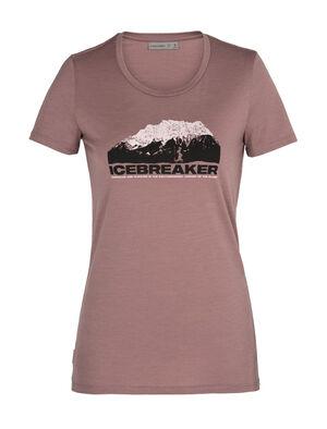 美丽诺羊毛Tech Lite短袖中低圆领T恤(Icebreaker Mountain)