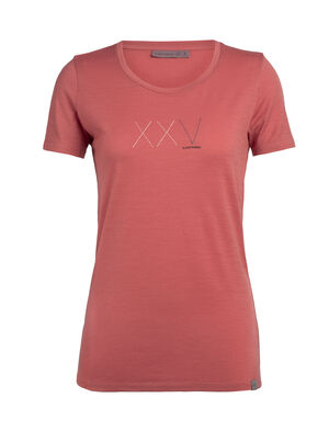 Womens Nature Dye Merino Tech Lite Short Sleeve Low Crewe T-Shirt Anniversary XXV Our most versatile women's merino wool tech tee, the nature dye Tech Lite Short Sleeve Low Crewe Anniversary XXV is dyed naturally and provides stretch, comfort, breathability and odor-resistance for just about any adventure.