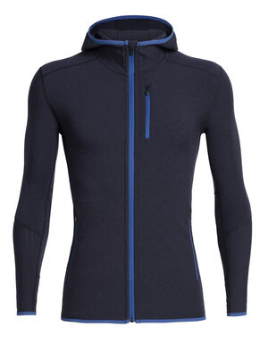 Mens RealFLEECE® Descender Long Sleeve Zip Hood A technical men's merino wool fleece hooded sweatshirt, the Descender Long Sleeve Zip Hood is designed for cold, aerobic days outside.