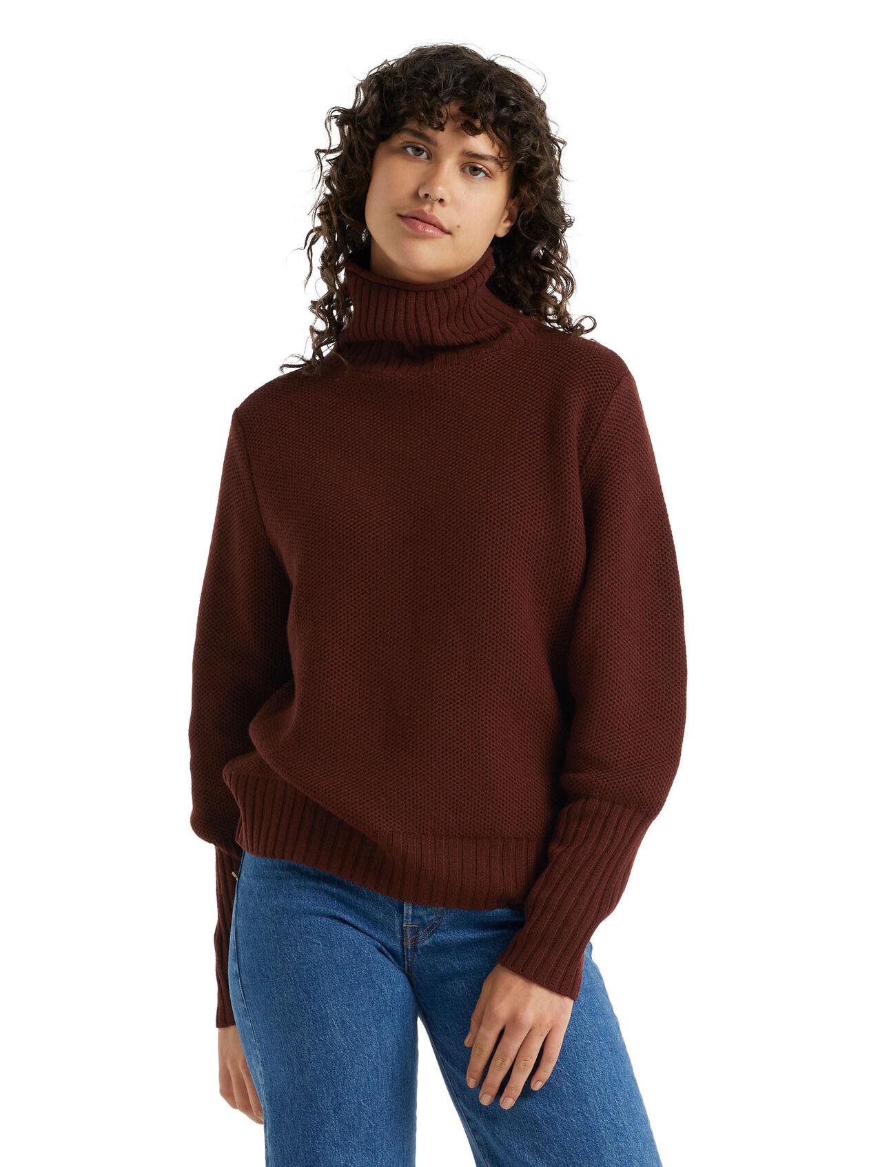 美丽诺羊毛Seevista漏斗领针织衫