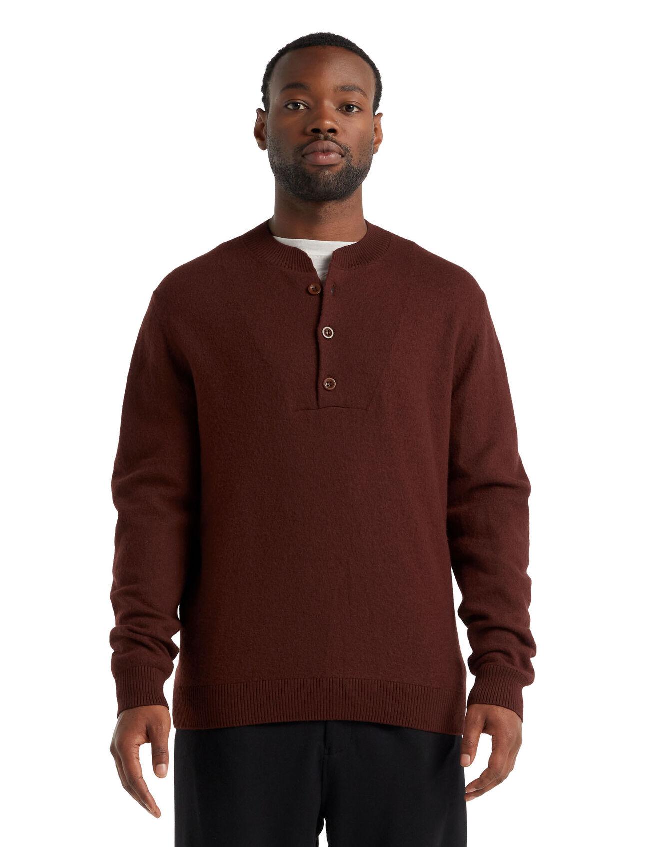 Merino Abbeyfield Half Button Sweater