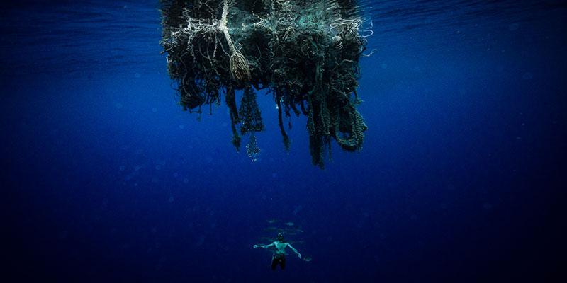 A huge ghost net