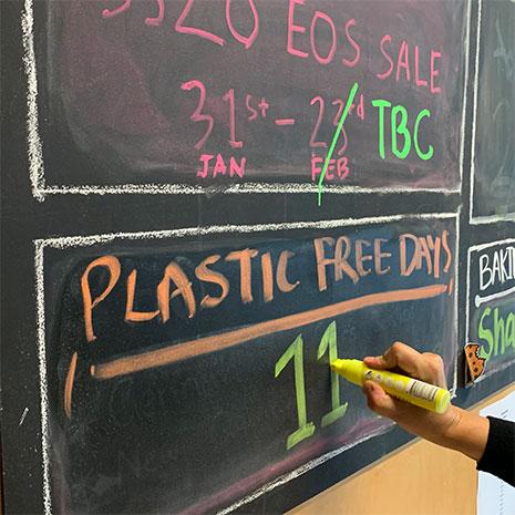 icebreaker's headquarters plastic free blackboard