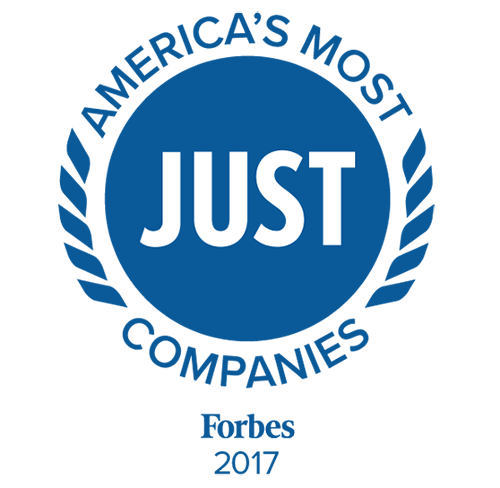 Americas most just companies Forbes logo